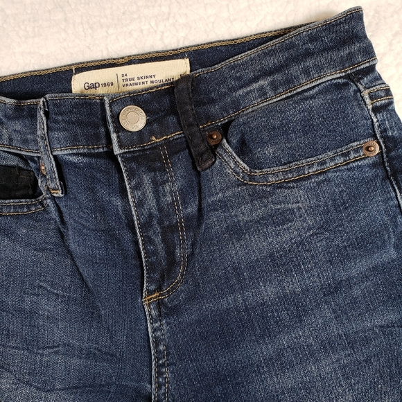 Gap1969 Women's Midwash True Skinny Jeans sz 24